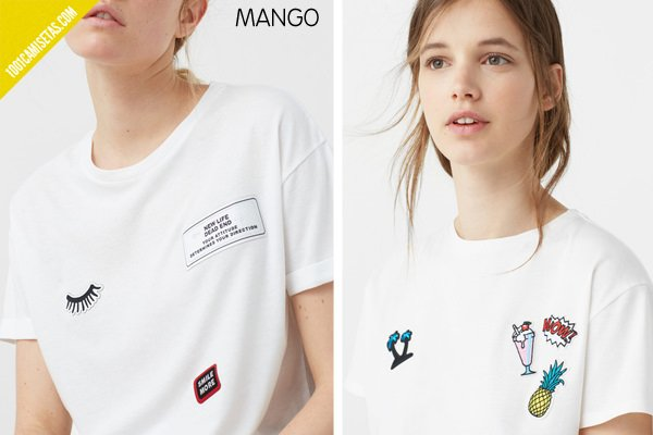 Camisetas parches mango