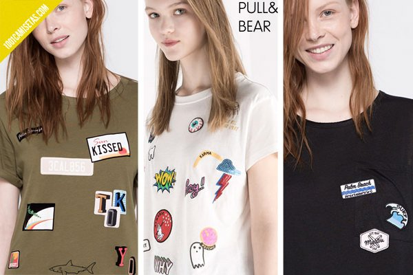 Camisetas parches pull bear