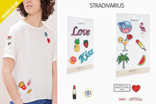 Camisetas parches stradivarius