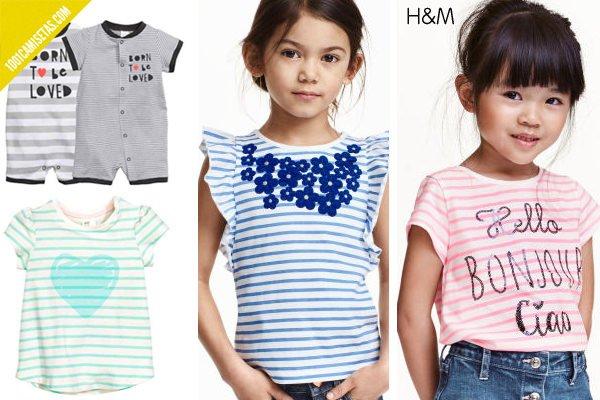 Camisetas rayas hm