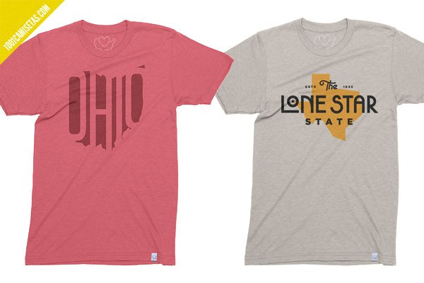 Camisetas vintage 50 states