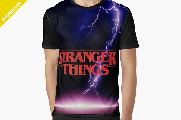Camiseta full print stranger things