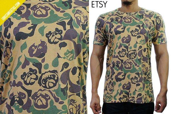 Camisetas camuflaje etsy