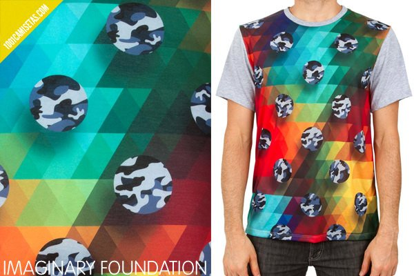 Camisetas camuflaje imaginary foundation