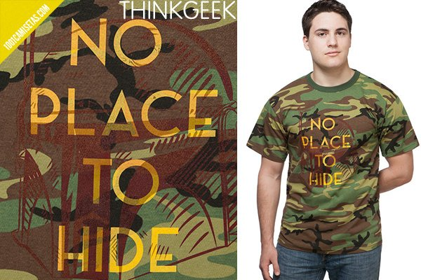 Camisetas camuflaje thinkgeek