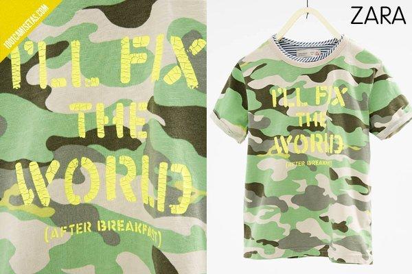 Camisetas camuflaje zara