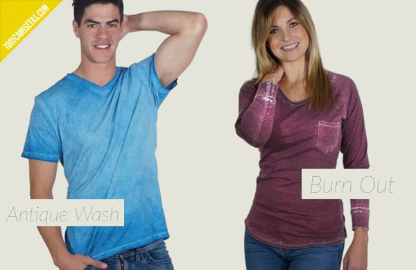 Camisetas desteñidas