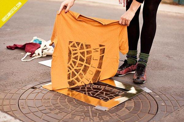 Camisetas estampadas serigrafia raubdruckerin