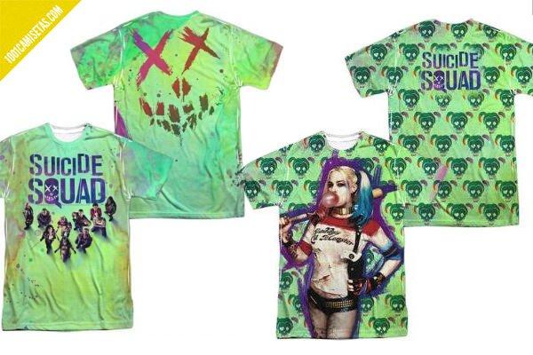 Camisetas all over suicide squad