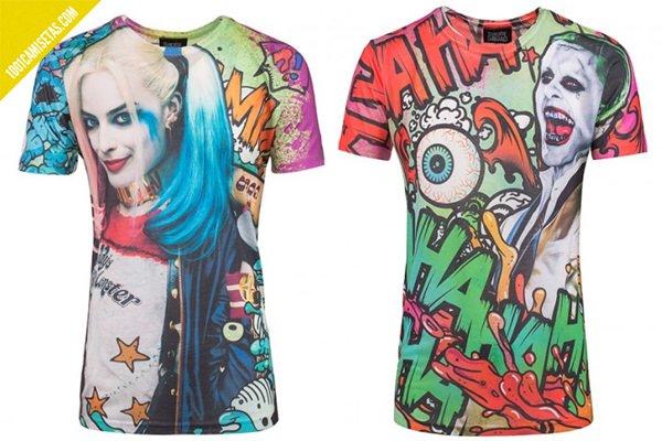 Camisetas full print escuadron suicida