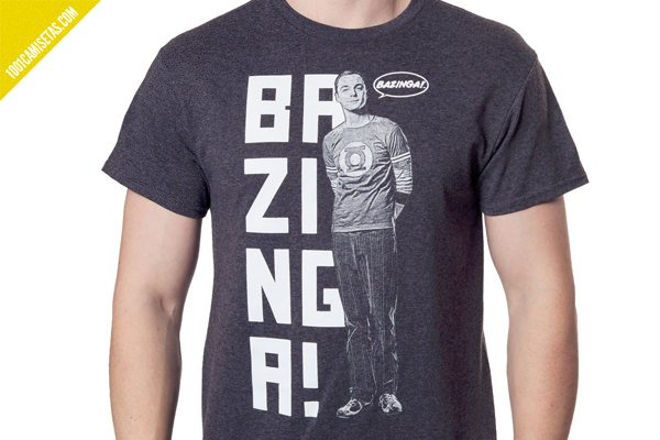 Camiseta bazinga big bang theory
