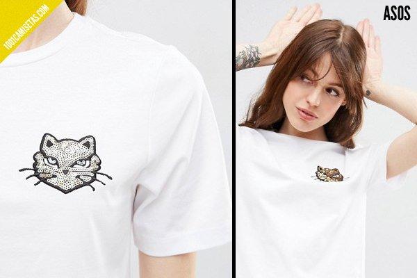Camisetas lentejuelas de asos