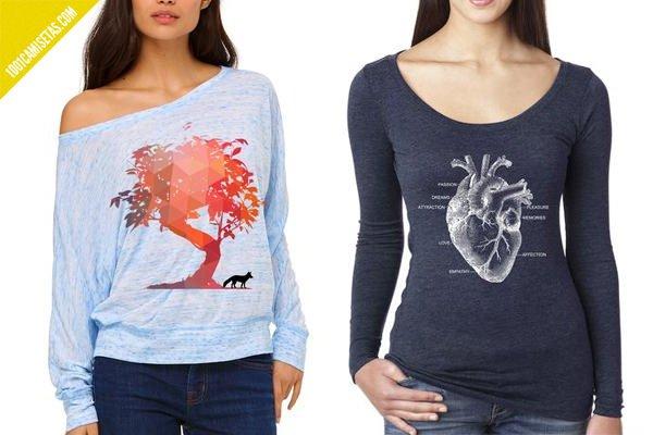 Camisetas manga larga artisan tees