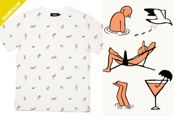 Camiseta all over jean jullien