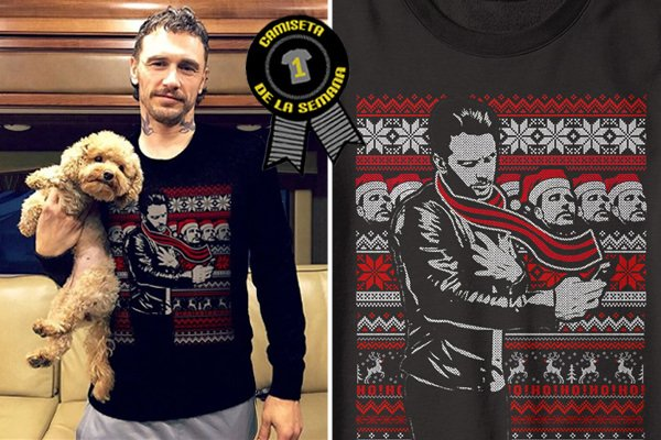 Camiseta semana james franco selfie christmas