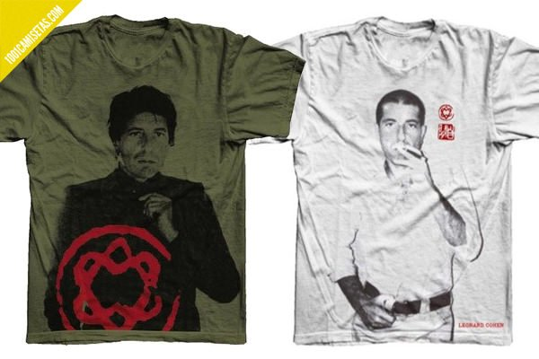 Camisetas de leonard cohen