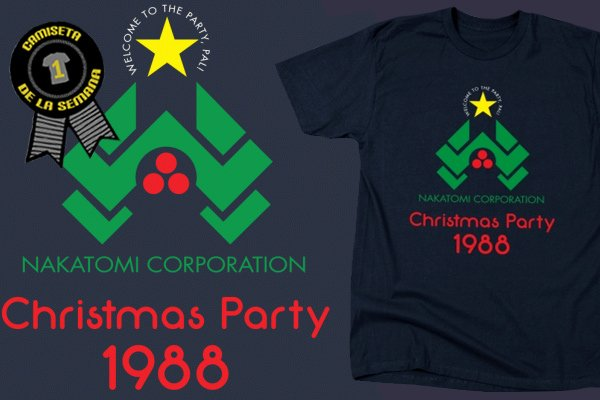 Camiseta semana nakatomi christmas party 1988