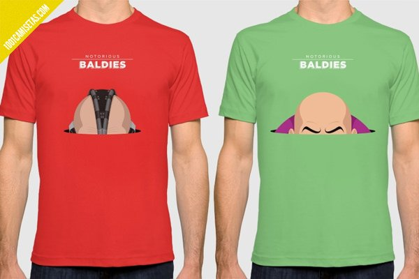 Camisetas notorious baldies villanos