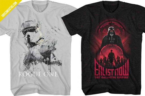 Camisetas rogue one hot rags