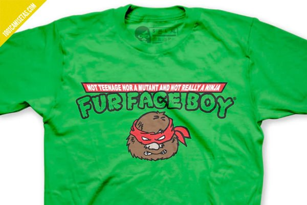 Camiseta fur face boy