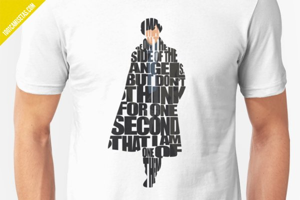 Camiseta sherlock holmes redbubble