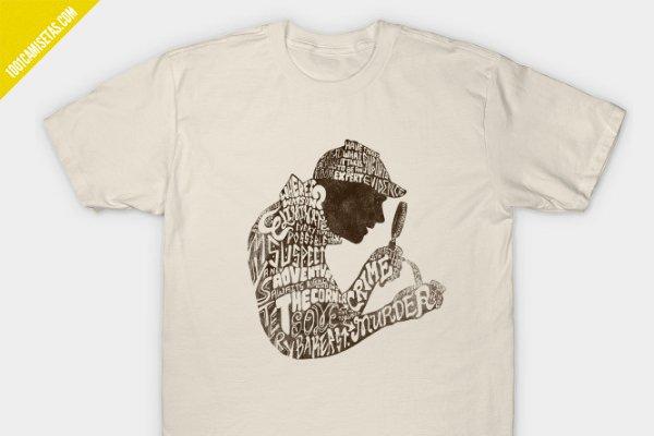 Camiseta sherlock holmes teepublic