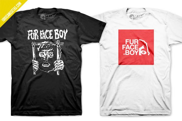 Camisetas fur face boy