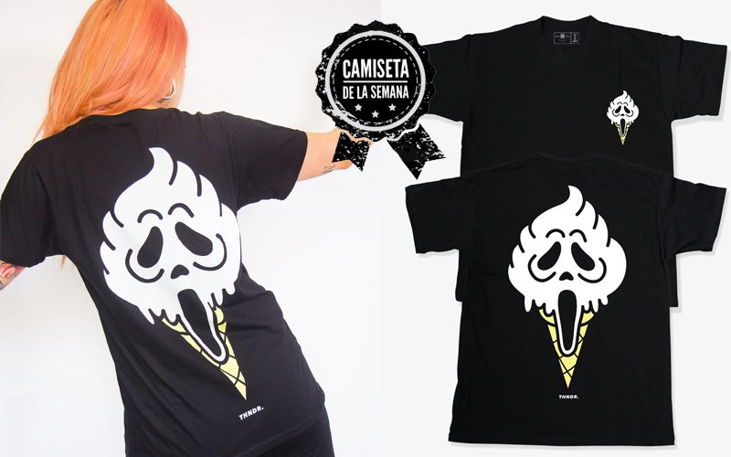 camiseta de Ghostface